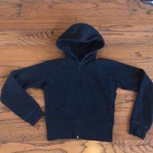 Lululemon black Scuba sweatshirt size 2-4